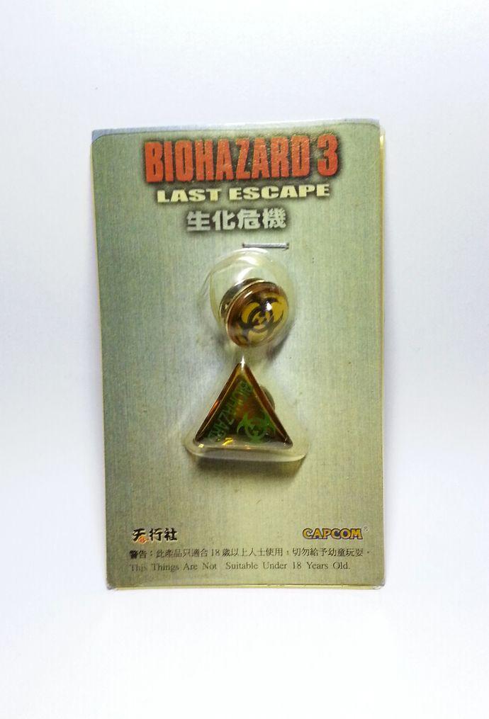 Hong Kong Comic BIOHAZARD 3 Last Escape Promo Hazard Symbol Pin Set Of 2 - Resident Evil by mycoffeeboy, $550.00 HKD
