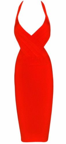 Vivann Red Bandage Dress