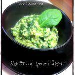 Risotto+con+spinaci+freschi.+Primo+piatto+leggero+e+dietetico+con+verdure+di+stagione