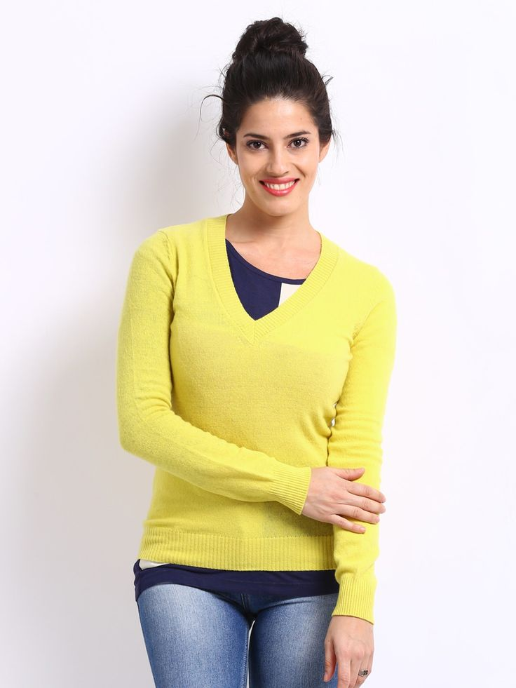 United_Colors_of_Benetton_Women_Yellow_Sweater