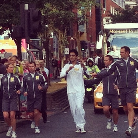 The Torch passes through Leeds.
