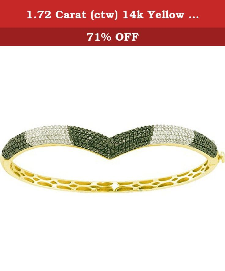 1.72 Carat (ctw) 14k Yellow Gold Round White & Black Diamond Ladies Fashion Bangle Bracelet. This lovely diamond bracelet feature 1.72 ct white & black diamonds in prong setting. All diamonds are sparkling and 100% natural. All our products with FREE gift box and 100% Satisfaction guarantee. SKU # GD56845.