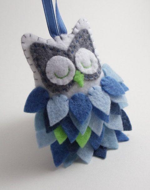 Felt Owl Ornament by BananaBugAndZod on Etsy, $18.50