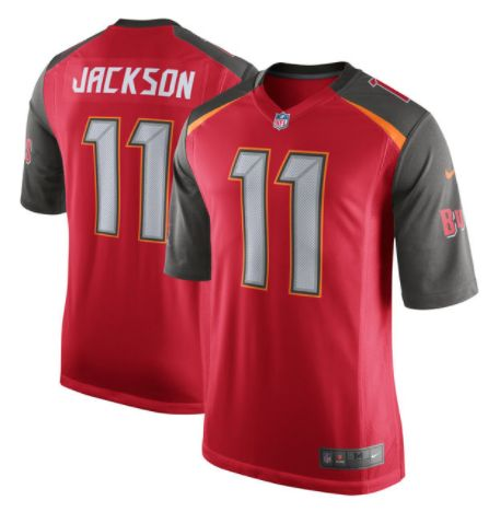 Men's Tampa Bay Buccaneers #11 DeSean Jackson Red Stitched Nike NFL Elite Jersey