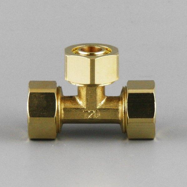15mm Plumbing Equal Tee Brass Pex Al Pex Pipe Fitting