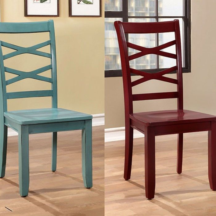 Giselle Dining chair CM3528RB SC 2Piece Free
