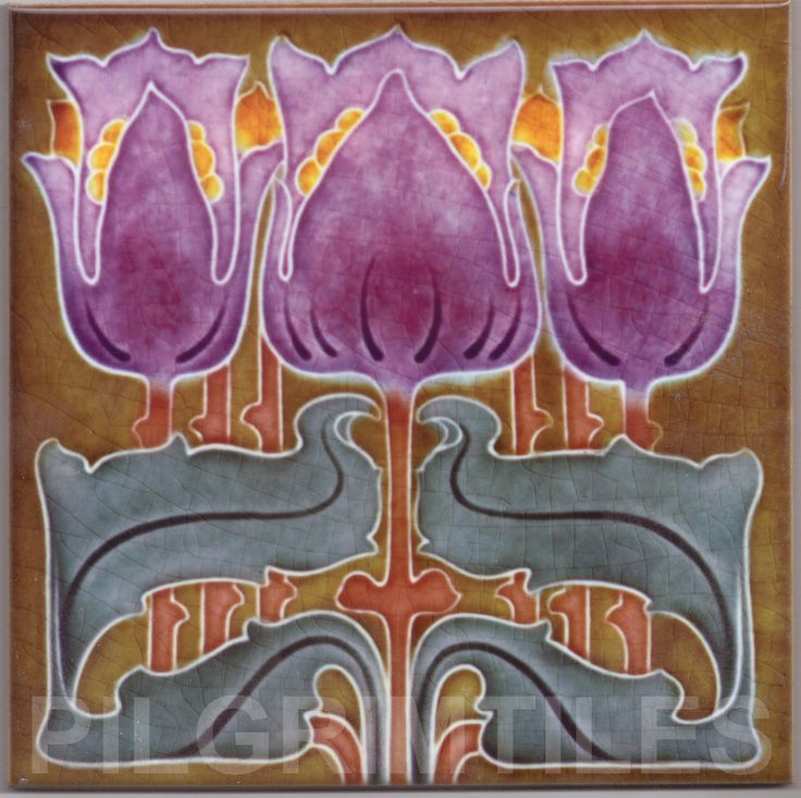 art nouveau ceramic tile plaque fireplace kitchen bathroom splashback 98