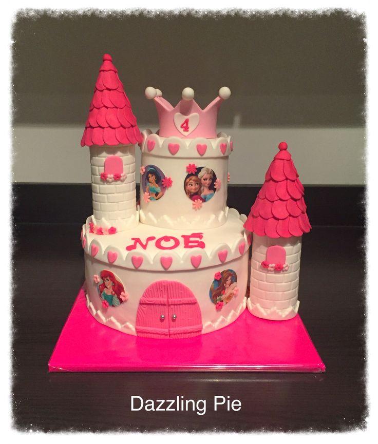Princess castle cake/Kasteeltaart made by Dazzling Pie