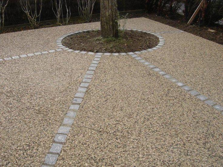 Les 25 meilleures id es de la cat gorie beton d sactiv sur pinterest pav s - Revetement cour maison ...