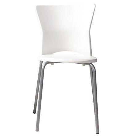Solano Square Back Chair White