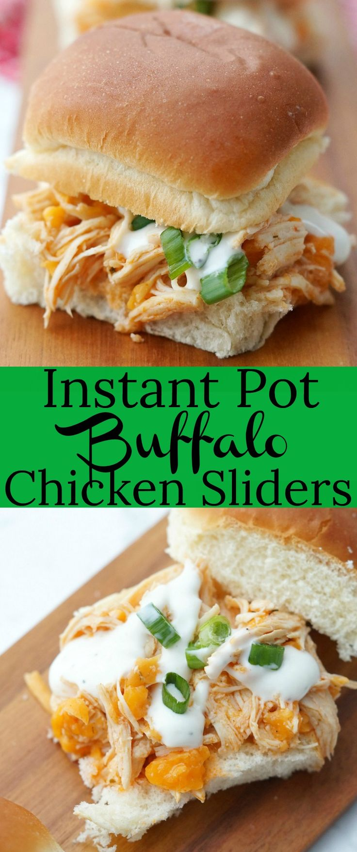 Easy Instant Pot Buffalo Chicken Sliders. Such an easy sandwich recipe made in minutes in the Instant Pot!