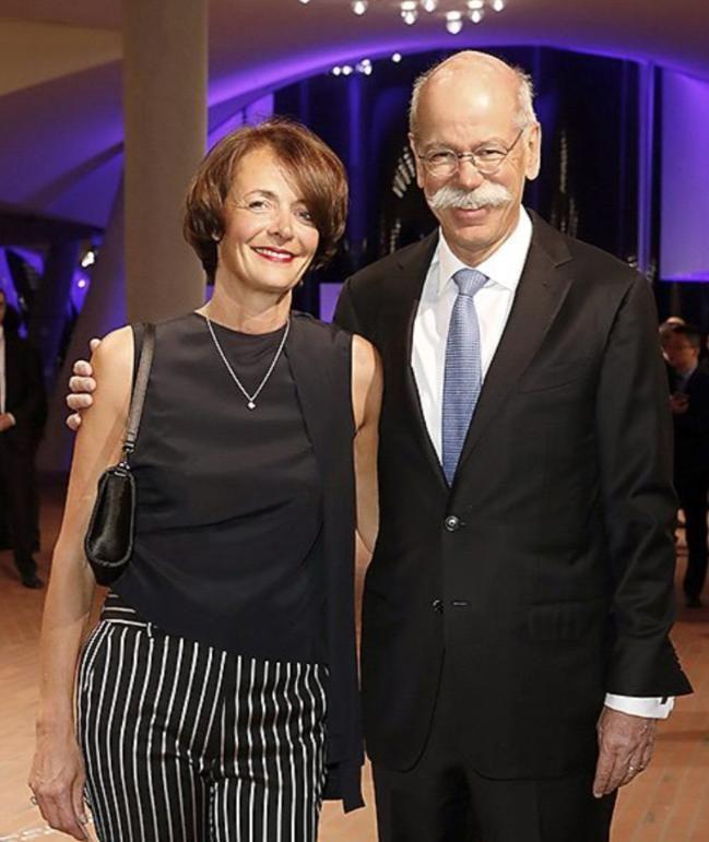 Daimler-Vorstand Dieter Zetsche mit Ehefrau Anne