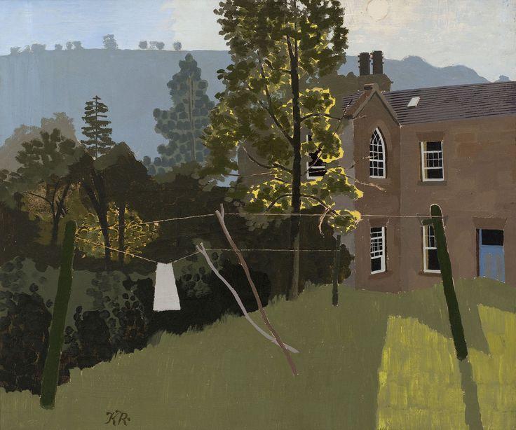 "Kenneth Rowntree, ""Grove House, Levisham, Evening"""