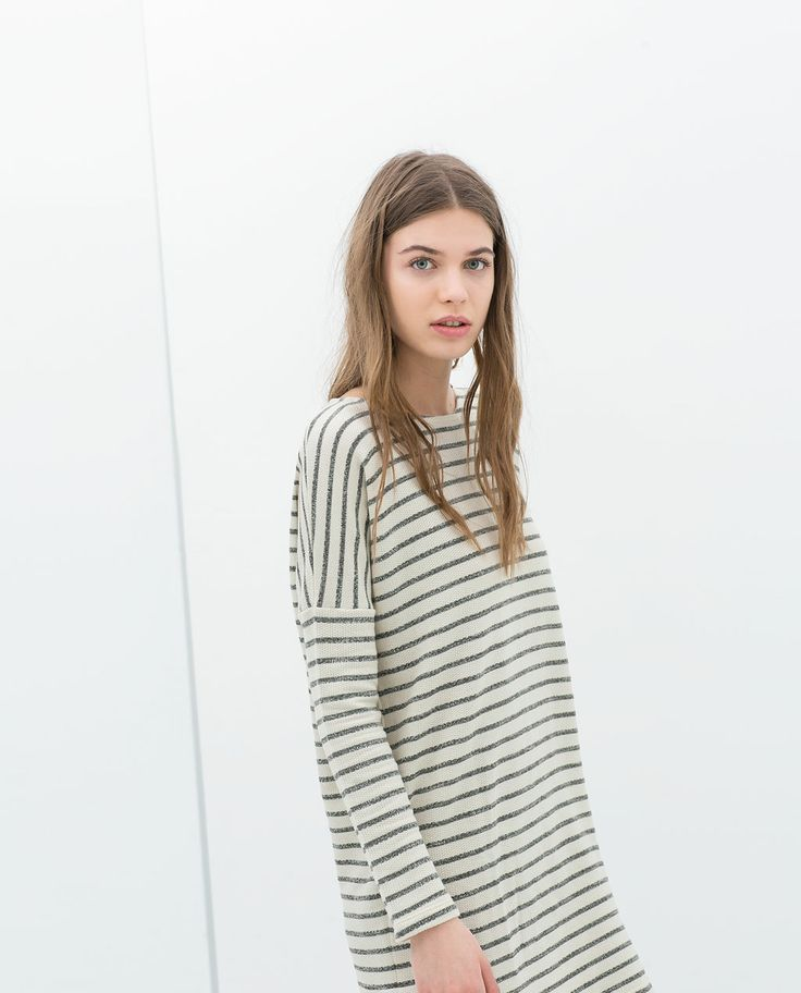 ZARA - TRAFALUC - STRIPED VELOUR DRESS
