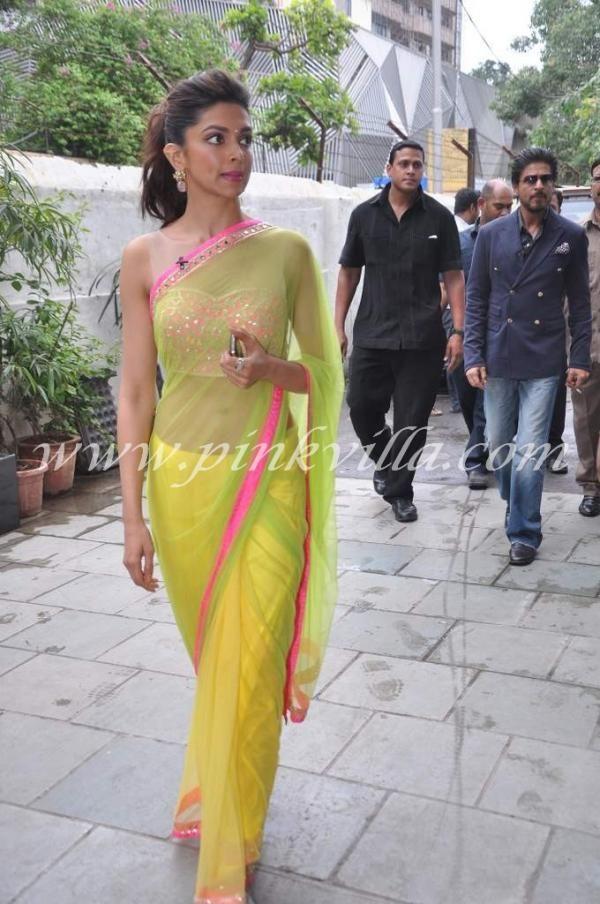 Deepika Padukone during promotion of Chennai Express: Sorbet shades