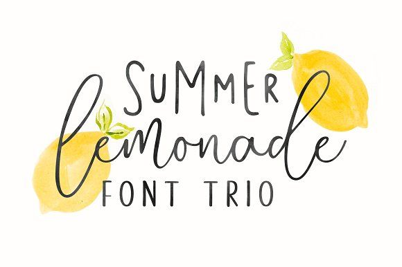Summer Lemonade + Extras by Hart Foundry™ on @creativemarket