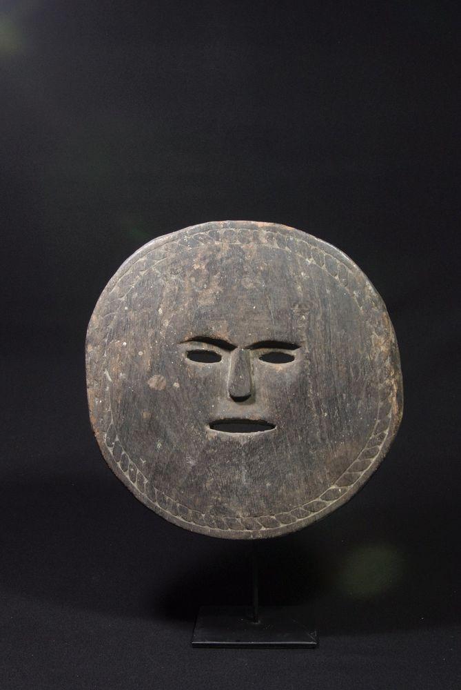 Wood mask depicting sun - West Timor - Tribal artifact #Timoreseartisan