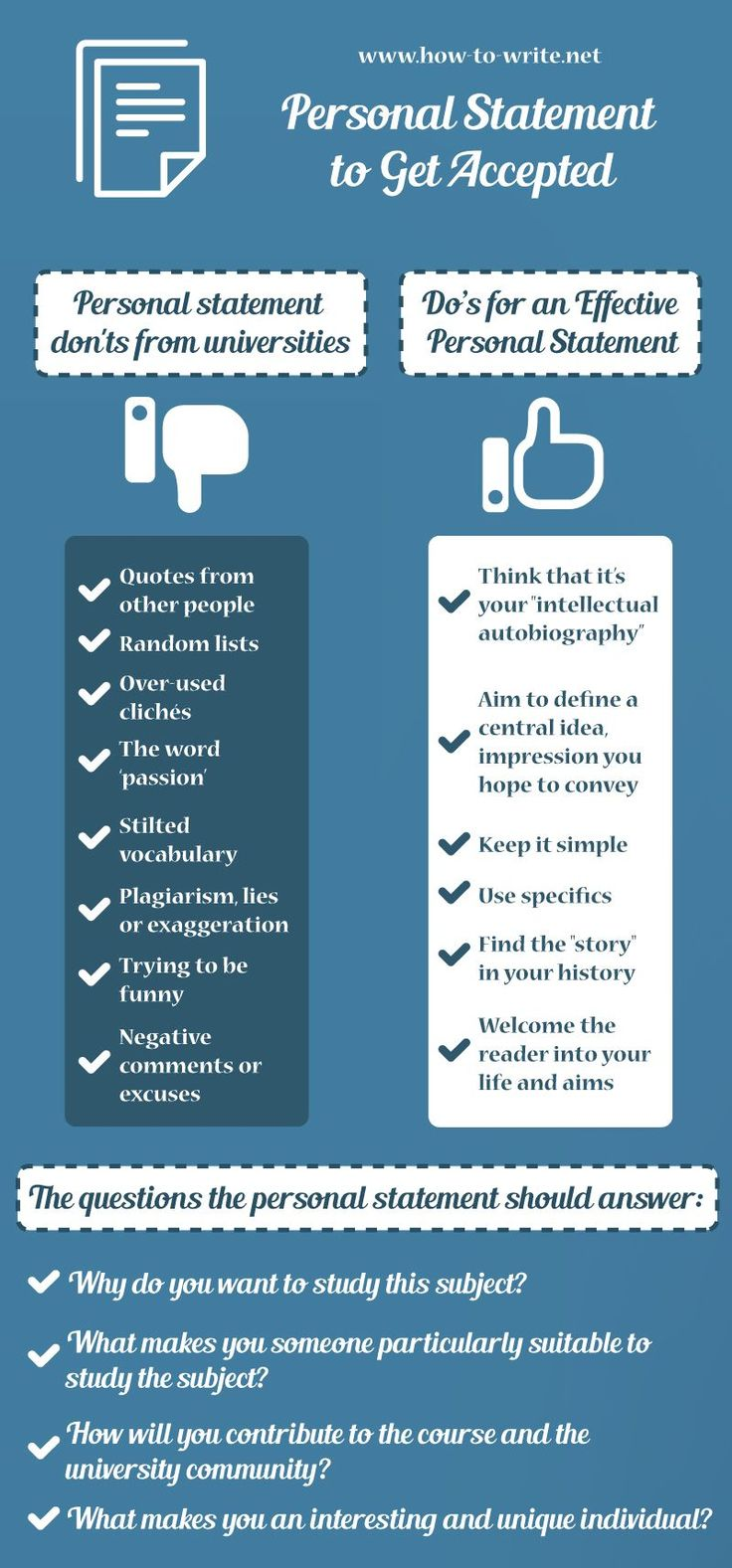 best ideas about personal statements graduate this infographic presentation presents about how to write a personal statement to get accepted to get the best information please here