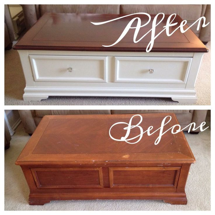 refinished side table. new paint (valspar semi-gloss in satin