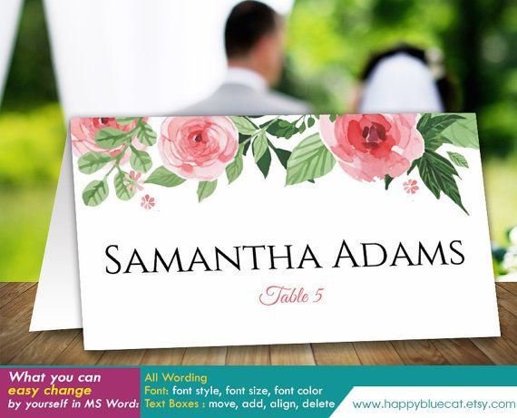 Best DIY Wedding Templates Images On Pinterest Microsoft - Wedding invitation templates: wedding place card size