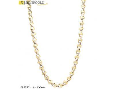 1-1-704-1-Cadena oro bicolor 18Kt. fantasía L3717