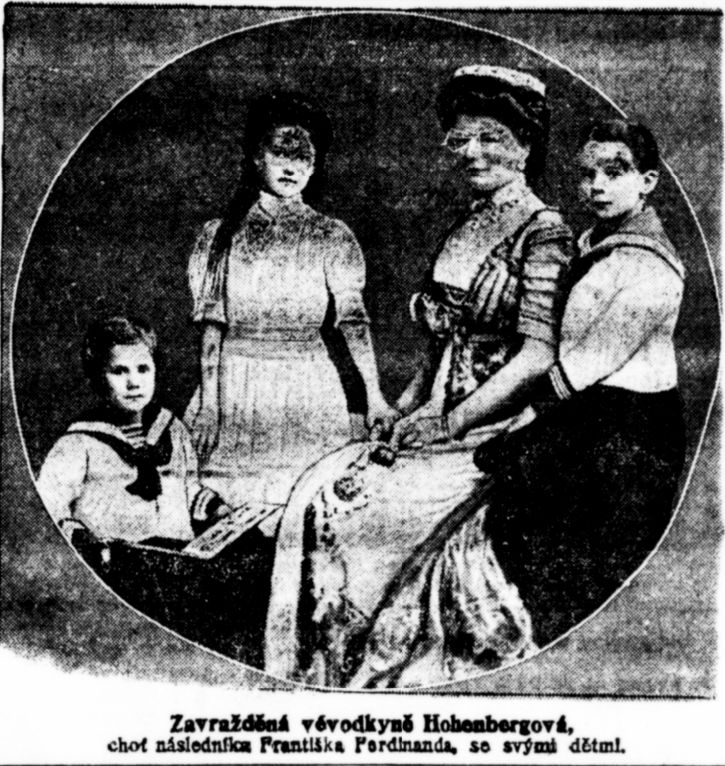 Žofie, manželka Františka Ferdinanda, s dětmi