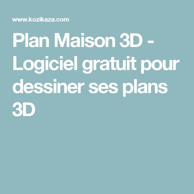 Best 25 logiciel plan 3d ideas only on pinterest plans for Logiciel 3d gratuit maison