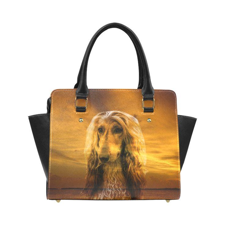 Dog Afghan Hound Classic Shoulder Handbag (Model 1653)