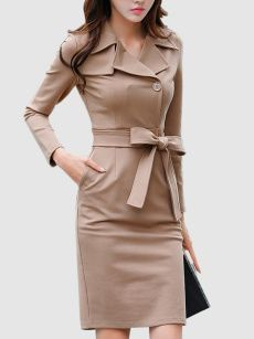 Buy Cowl Neck Ruched Bowknot Solid Bodycon Dress online with cheap prices and discover fashion Bodycon Dresses at Fashionmia.com.