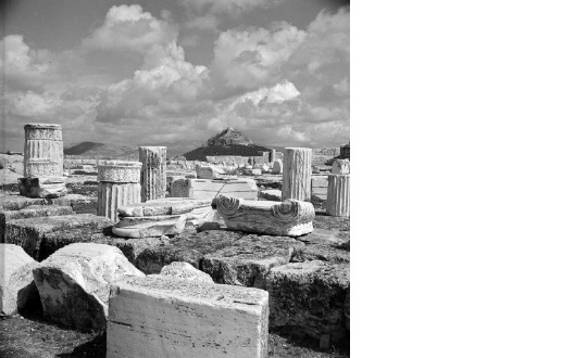 View of Lycabettus from the Acropolis.  Athens, circa 1950  Voula Th. Papaioannou (ΦΑ_6_Β2869α)