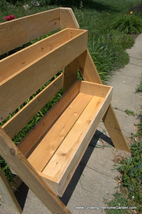 How to Build a Raised Multi-Leveled Garden Planter Box - Growing The Home Garden