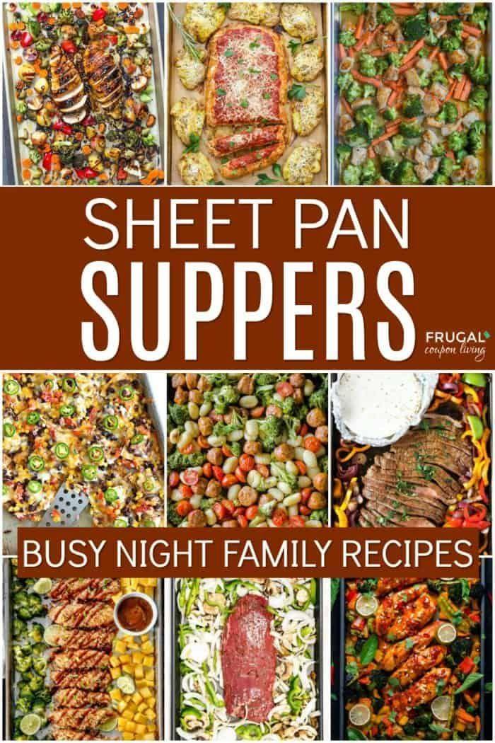 Cena per la famiglia in lamiera. Ricette per la cena facili per le mamme in movimento! #Frug …