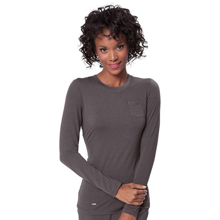 koi Sapphire Women's Sandra Long Sleeve Crewneck T-Shirt #nurse #doctor #hospitalstyle #medicalstyle #scrubs