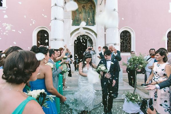 Greek Island wedding inspirations | End of the ceremony