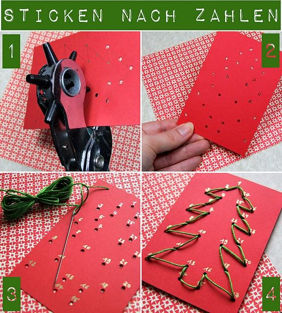 gestickte Weihnachtsanhänger