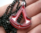 Assassins Creed Necklace , Laser Cut Black and Mirror Assasins Creed Pendant Necklace - Sale 25 %. $11.95, via Etsy. I WANT!