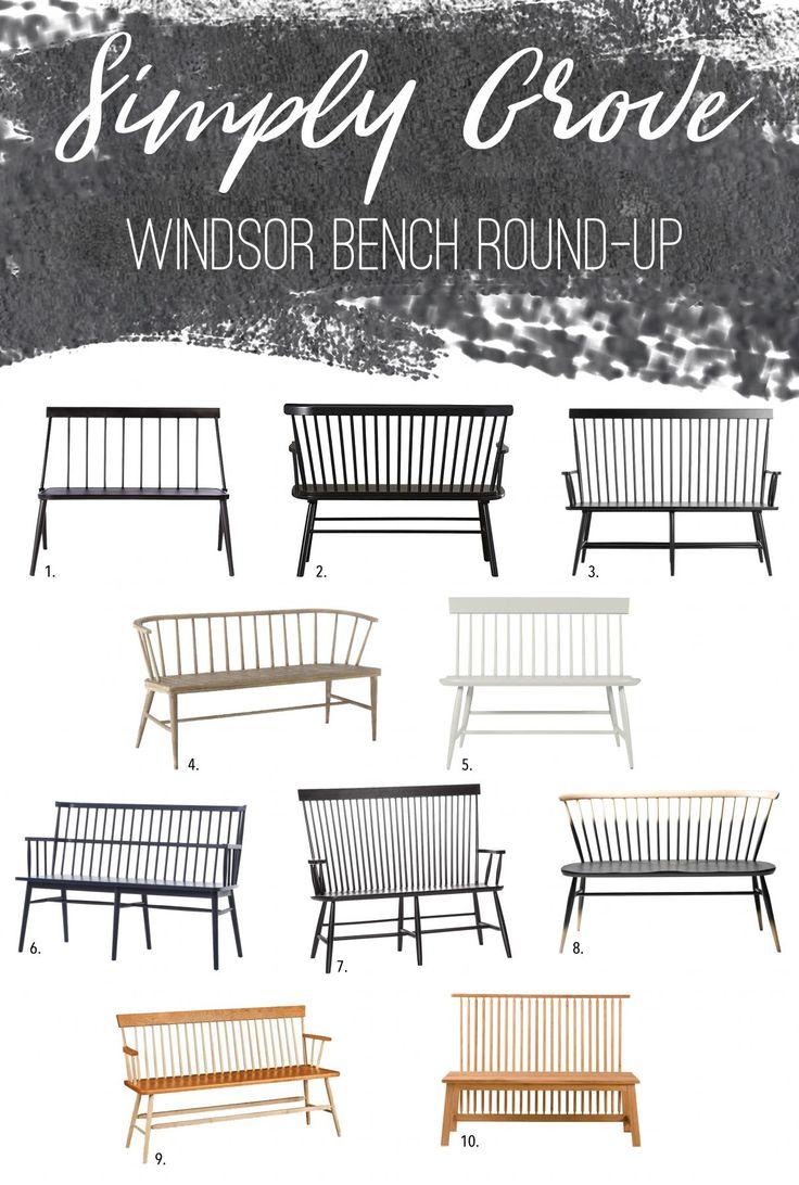 Windsor Bench Round Up Via Simply Grove