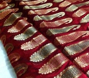 Chanderi vintage silk fabric from India