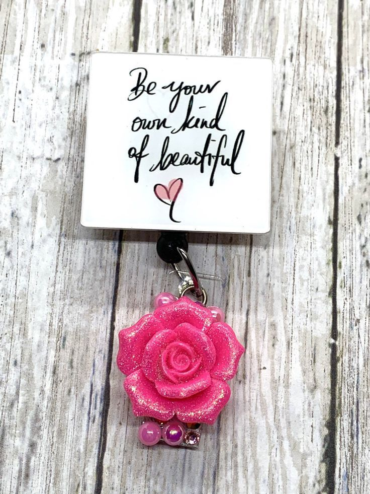 Be Your Own Beautiful , Retractable Nurse Badge Reels , ID