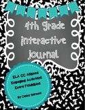 Interactive Reading Journal 4th Grade ELA CC Aligned