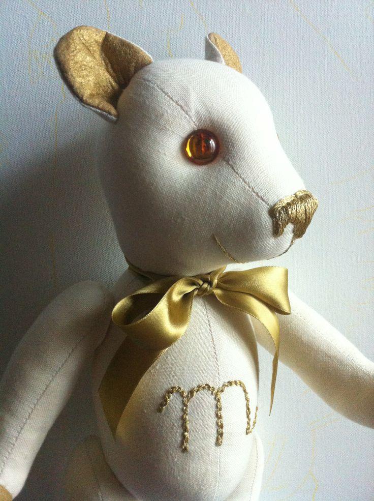 """""""Golden M"""" Teddy Bear Baby  By GSBears, Barcelona"""