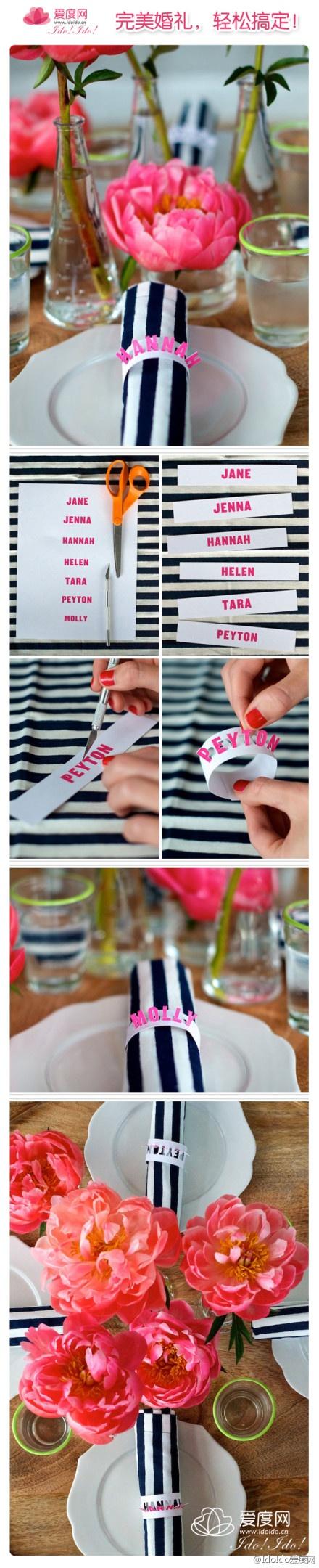 diy customized paper napkin rings