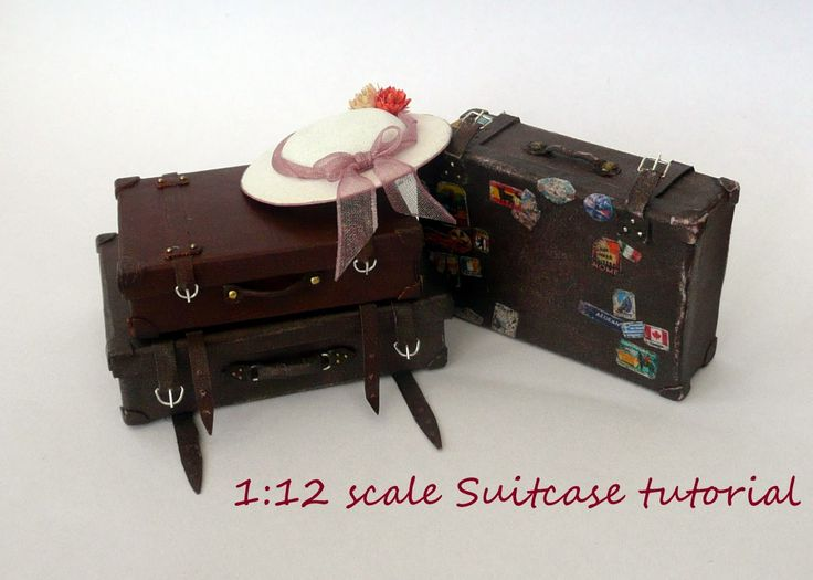 1000 images about miniature luggage trunks on pinterest suitcases briefcases and miniature bl 112 dollhouse miniature