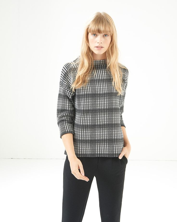 Kibba check knit top
