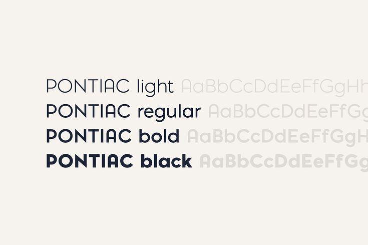 Pontiac Font Pack (Basic) by La Goupil Paris on @creativemarket