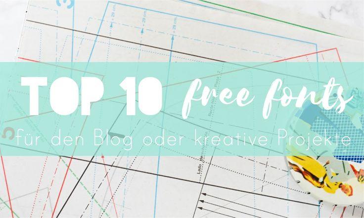 Top 10 Free Fonts für jedes Projekt - Seemannsgarn • handmade