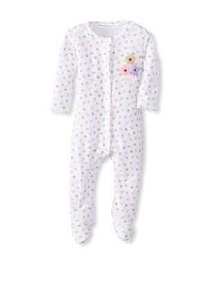 25% OFF Rumble Tumble Baby Flower Long Sleeve Coverall (White)