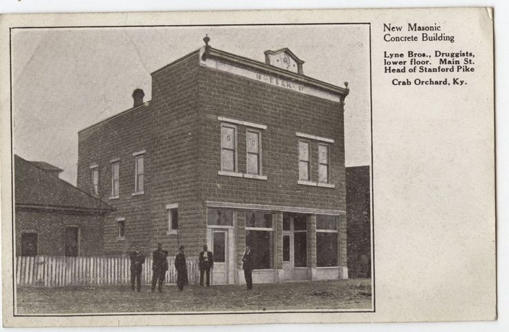 Crab Orchard, Kentucky Masonic Building - Lyne Drug Store ...