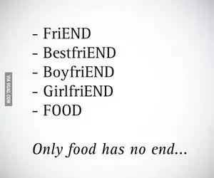 Food has no end