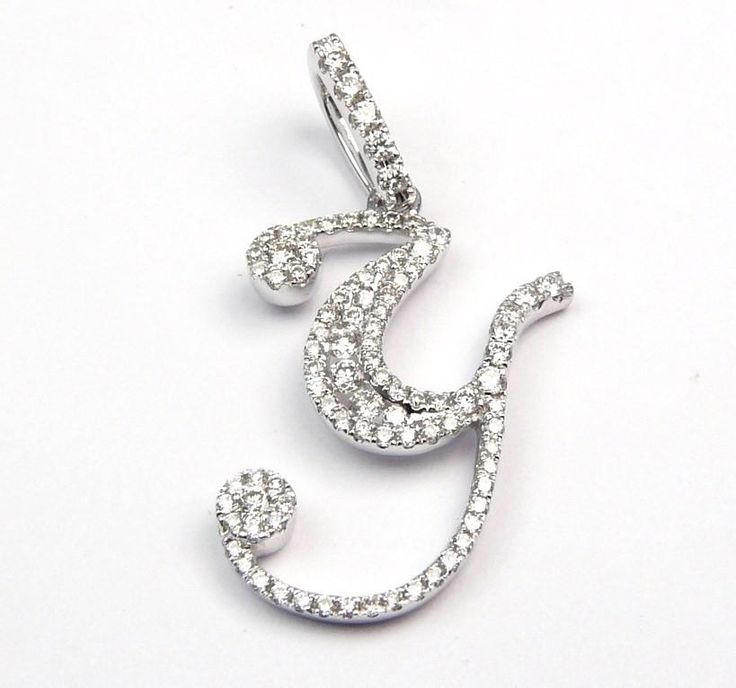 "DIAMOND LETTER ""Y"" PENDANT IS 25.2MM BY 25.5MM 